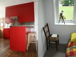 contemporary-red-kitchen-reclaimed-floor-boards-and-stainless-steel-worktops-architect